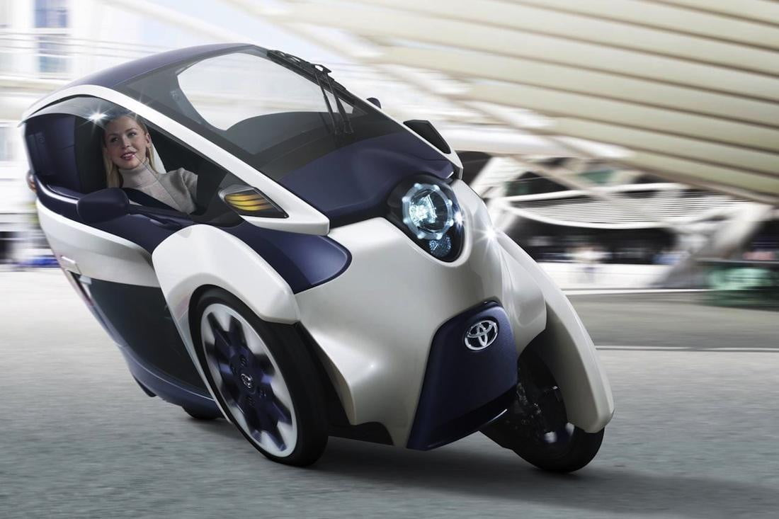 toyota i road electric trike gets the green light concept