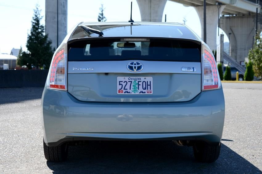 Toyota prius plugin exterior back electric vehicle