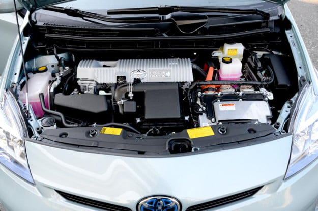 Toyota prius plugin exterior engine electric vehicle