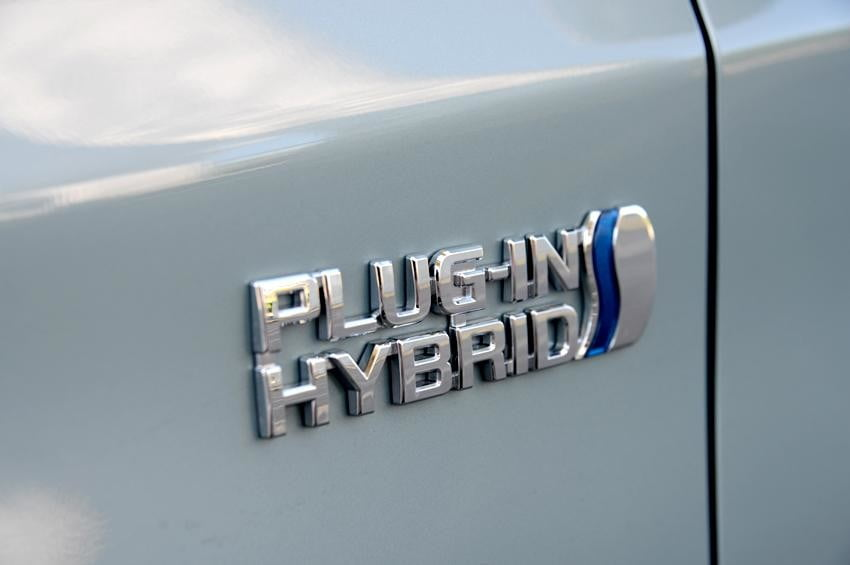 Toyota prius plugin exterior side logo electric vehicle