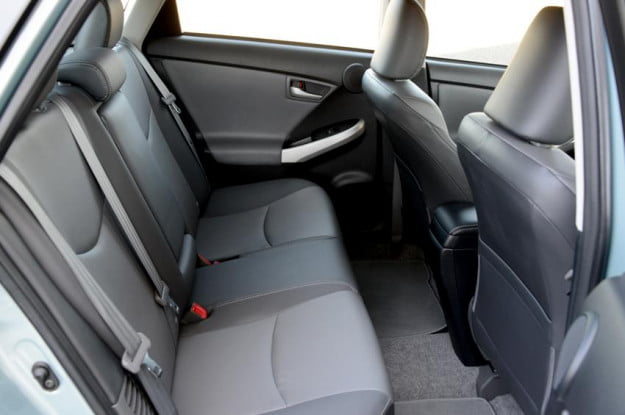Toyota prius plugin interior back electric vehicle