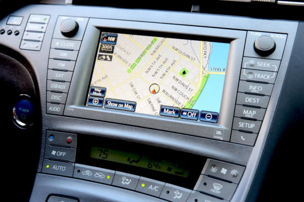 Toyota prius plugin interior navigation maps