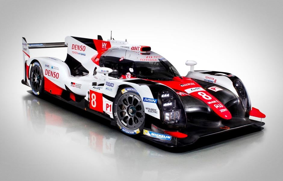 2017 toyota ts050 hybrid le mans race car photos details specs digital trends. Black Bedroom Furniture Sets. Home Design Ideas