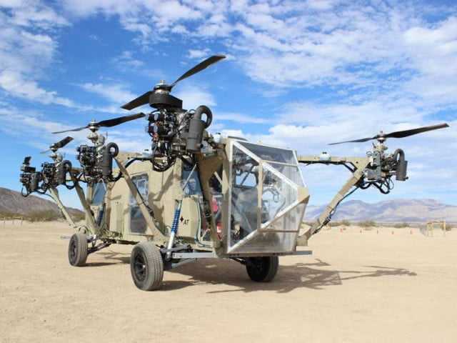real life transformer drone can switch helicopter truck