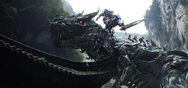 transformers age extinction trailer brings dinobot action megatrons gun face of grimlock