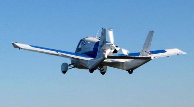 terrafugia flying car takes to skies in first public airshow flights transition