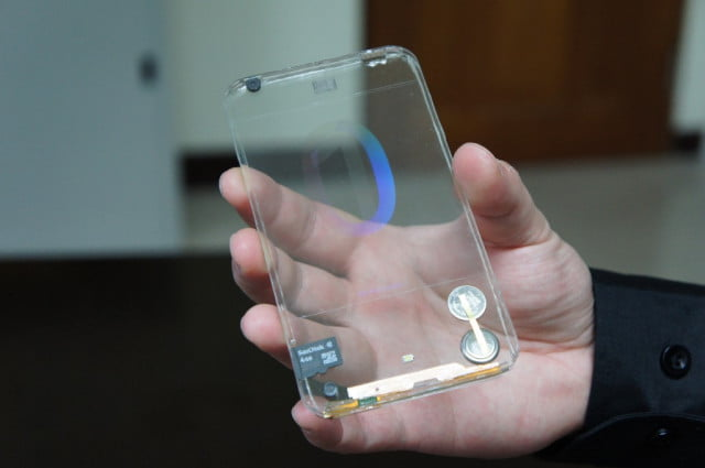 samsung wants touchscreen front back smartphone transparent phone polytron