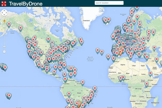 travel world map drone recorded videos travelbydrone site