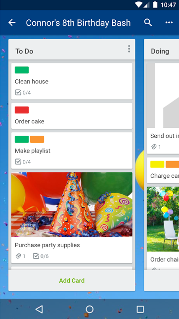 simple ways to organize you trello android