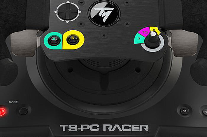 thrustmaster 39 s new racing wheel for pc costs a hefty 500 digital trends. Black Bedroom Furniture Sets. Home Design Ideas