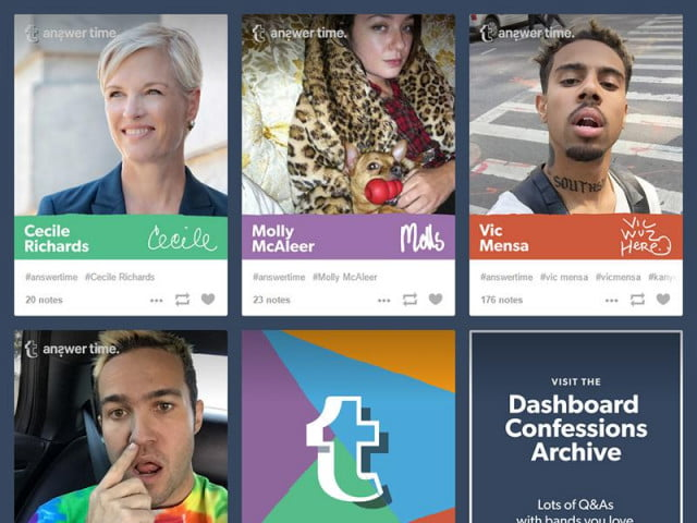 tumblr takes on the reddit ama with answer time