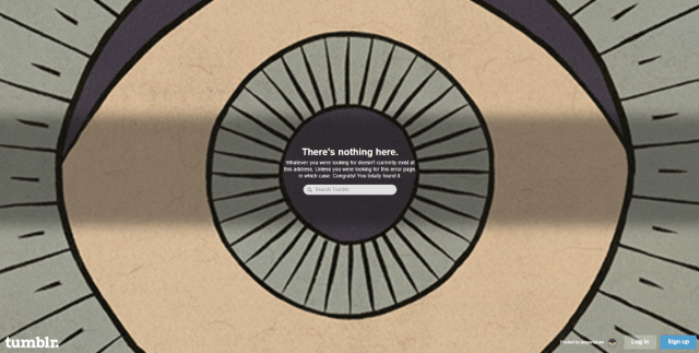 Tumblr 404 page