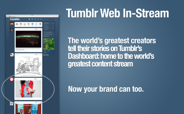 tumblr web instream