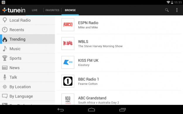 TuneIn_Radio_Android_tablet_app_screenshot