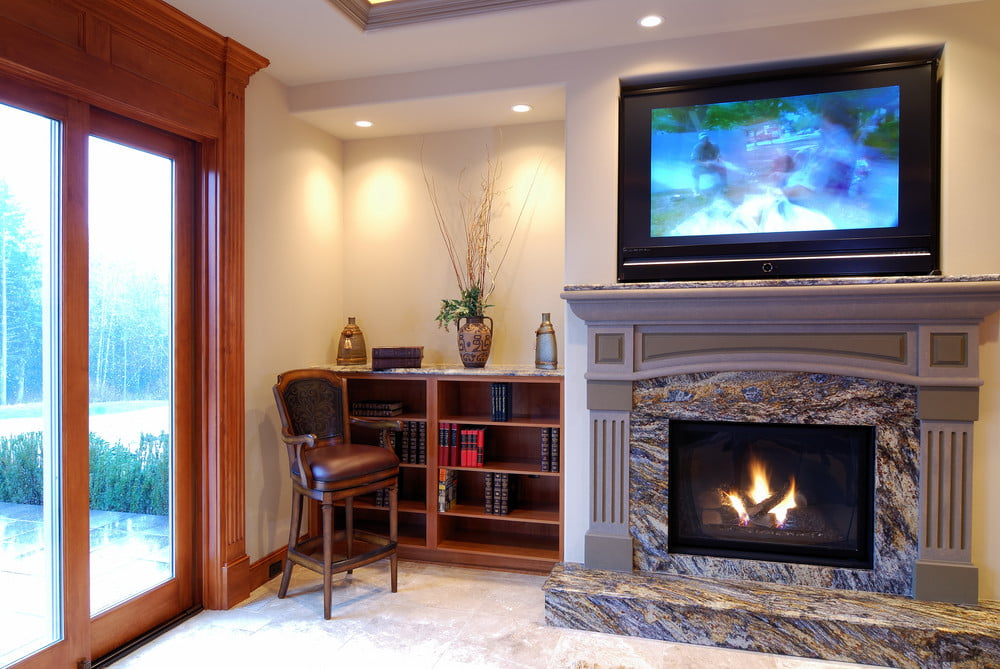 superior tv above fireplace Part - 5: superior tv above fireplace nice look