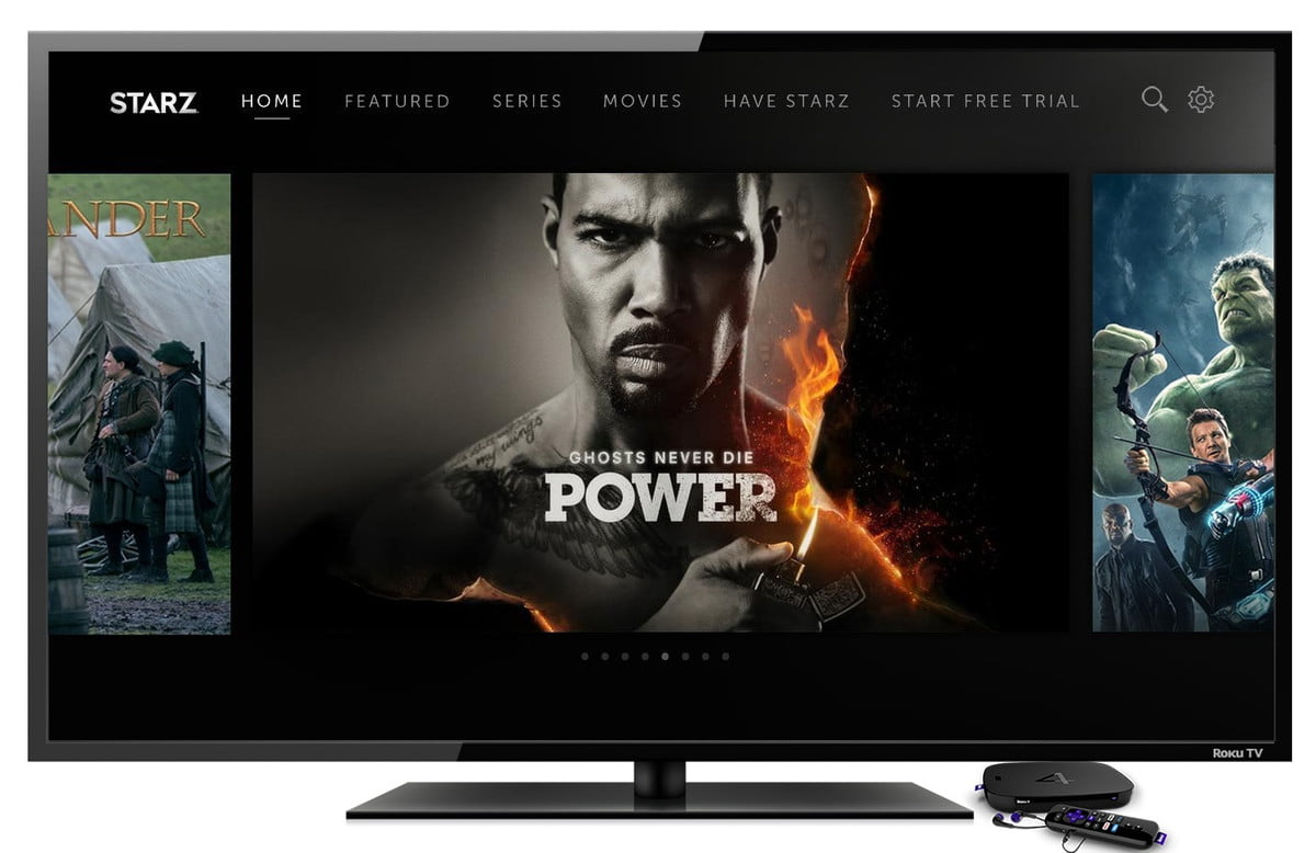 starz app now available on roku tv  colors background