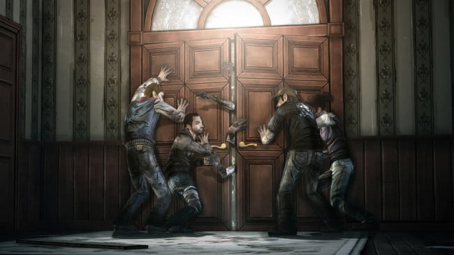 The Walking Dead door