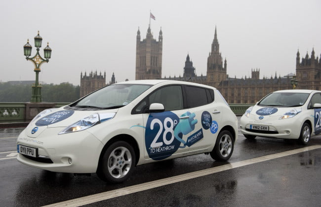 Tweet and ride Nissan gives free cab rides to Tweeting Londoners