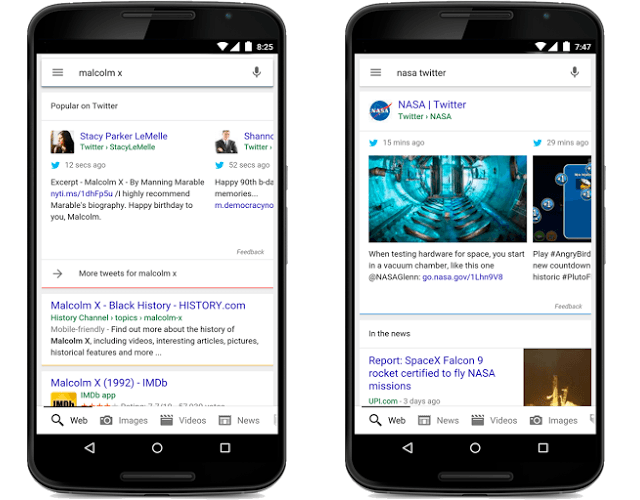 google twitter search results news tweets