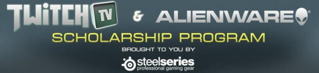 Twitch SteelSeries and Alienware scholarship
