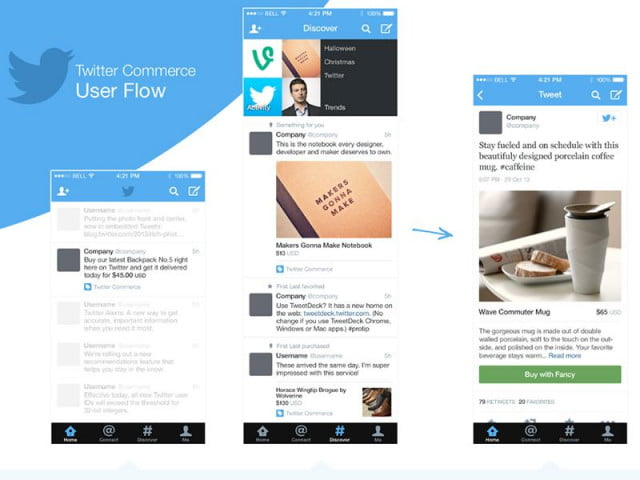 twitter commerce screenshots point new buy button