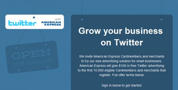 twitter and amex