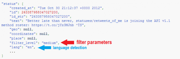 twitter meta data for language detection