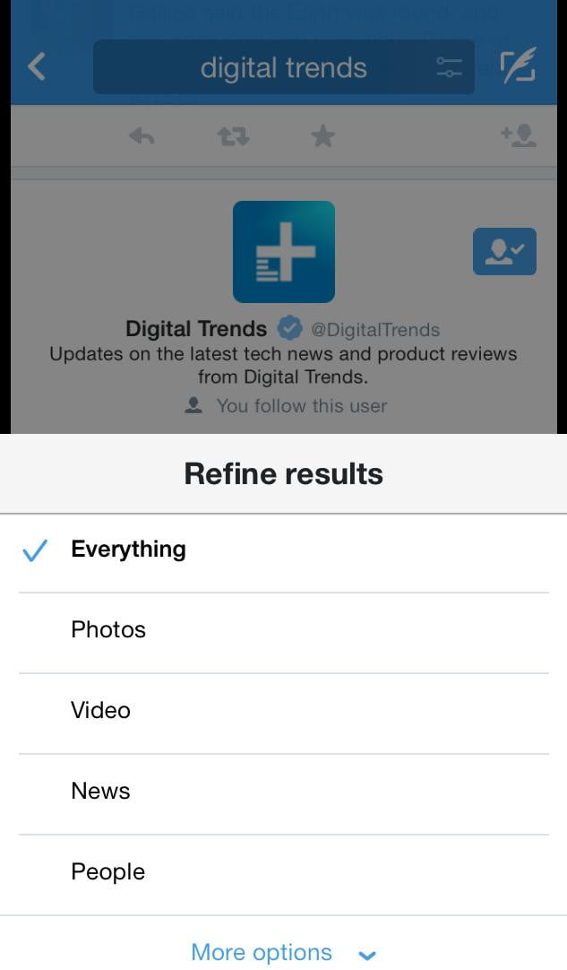 Twitter improves search with new filters for its iOS and ...