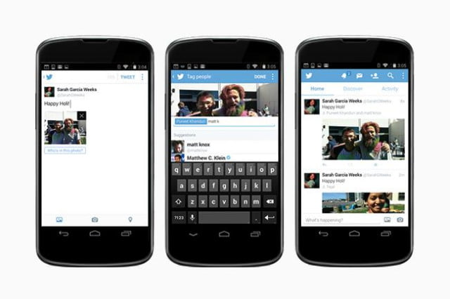 twitter now lets you add up to four images introduces tagging