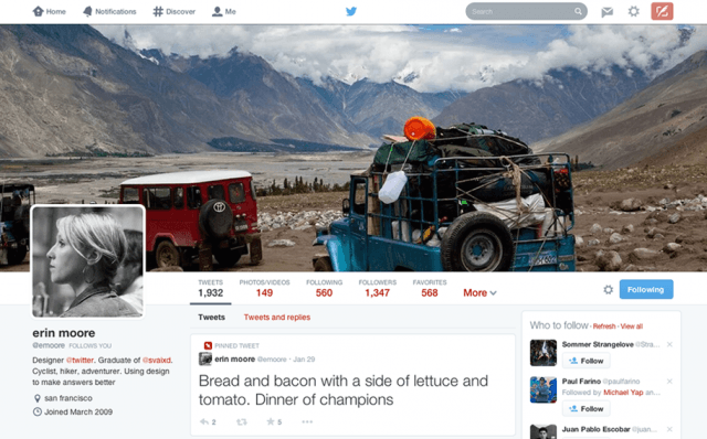 twitter rolls out new photo centric design for web redesign