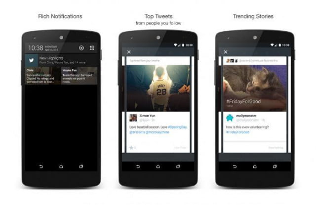 twitter highlights feature news screenshots