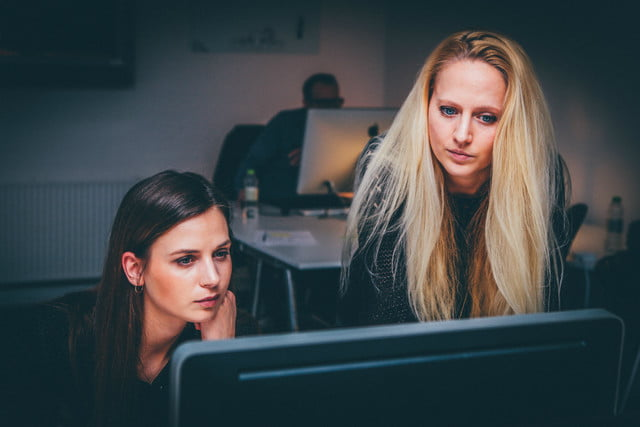 equal pay pledge tech two women working in an office