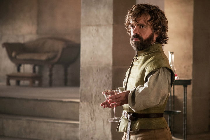 tyrion drinking wine and stuff