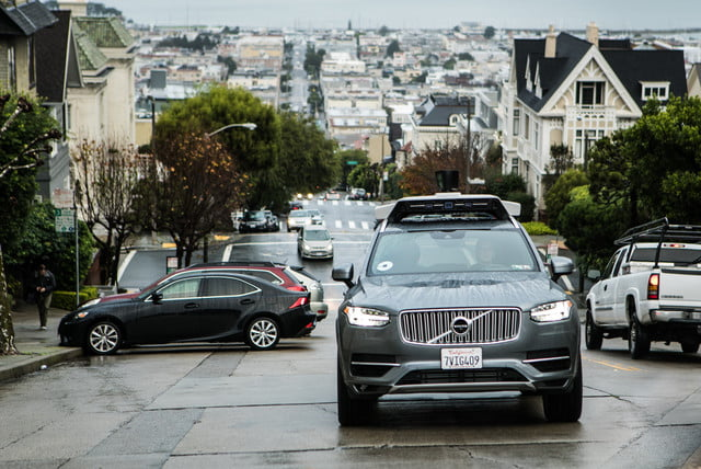 uber san francisco cyclists launches self driving pilot in with volvo car