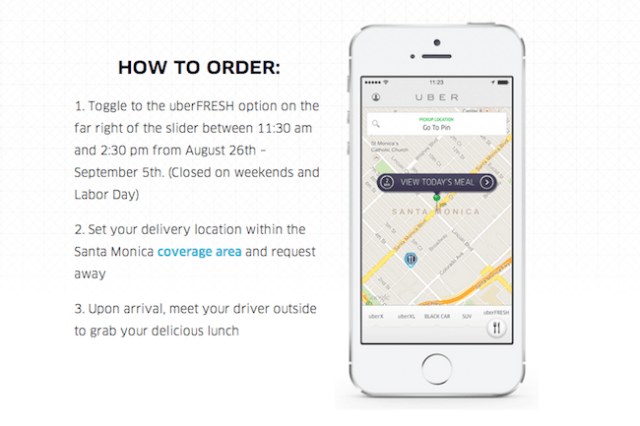 uber tests food delivery service uberfresh in santa monica