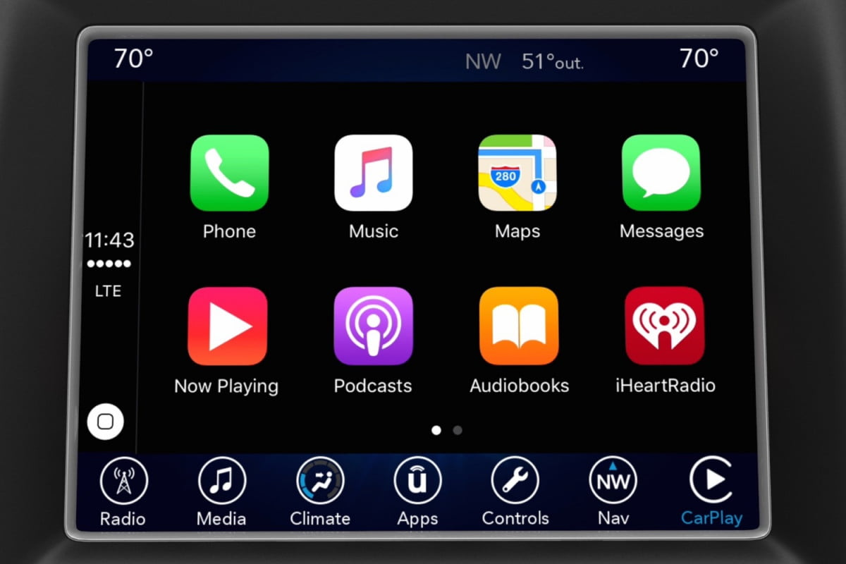 fca uconnect infotainment system updates ces  chrysler apple carplay