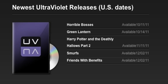 Ultraviolet first releases