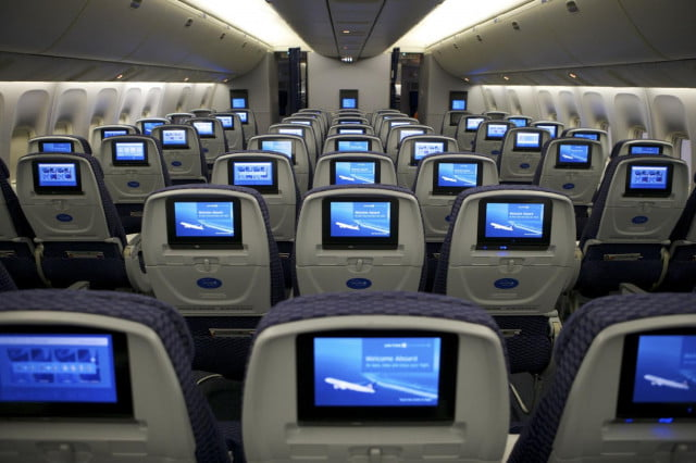 airlines ramping flight wi fi herald end seat back entertainment united economy plus
