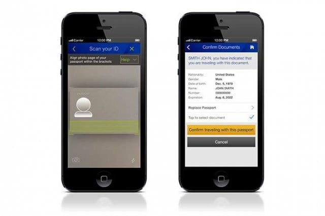 united airlines adds passport scanning ios android apps international flights mobile checkin