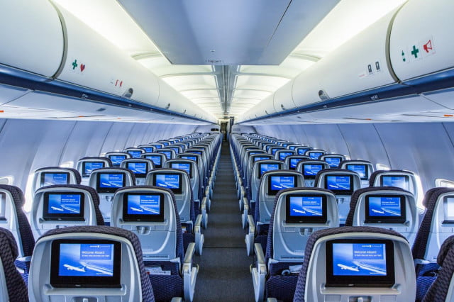 Although United's P.S. transcontinental service on Boeing 757 have advanced seat-back monitors for on-demand entertainment, United could do away with them in the future as it rolls out Wi-Fi.