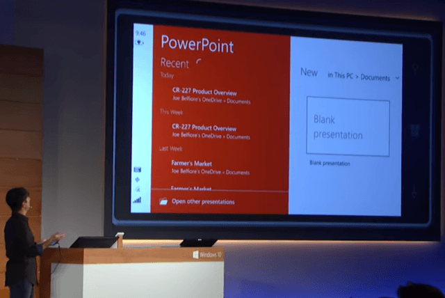 touch optimized office apps windows  promising buggy universal powerpoint