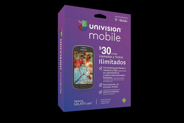 univision t mobile team launch brings affordable plans u s hispanics univisionmobilegalaxylight box