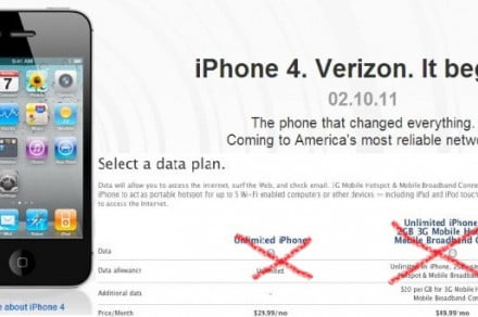 unlimited verizon iphone