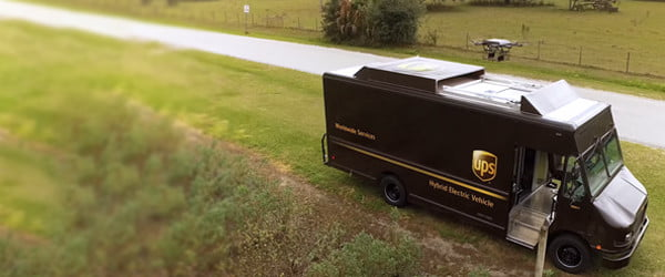 Watch this UPS truck launch a drone on a delivery run