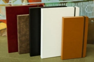 Portenzo Italian Bonded Leather Book Case
