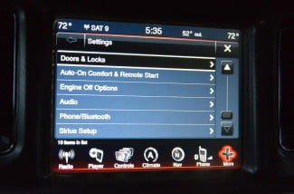2013 Dodge Charger AWD Uconnect media center touchscreen settings