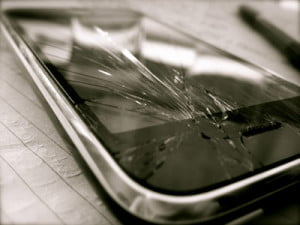 Crack iphone 4 screen