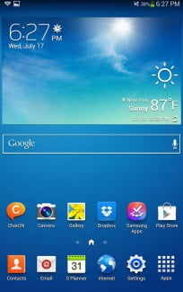 Samsung Galaxy Tab 3 screenshot home