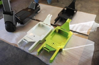 Works Electric Rover paint drying