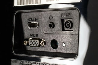 Samsung S27D390H review monitor jack panel